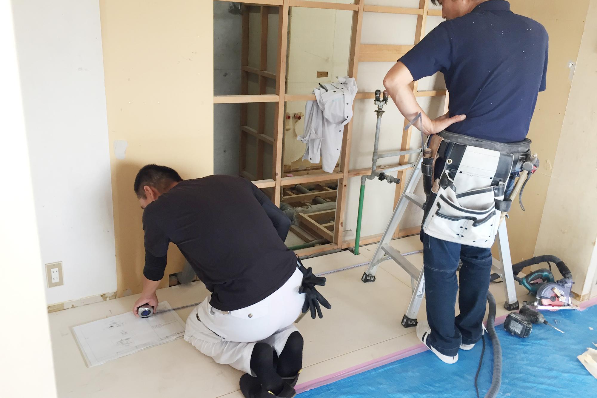 Ot様邸 奈良市 マンションリノベーション 造作・設備配管・電気配線工事