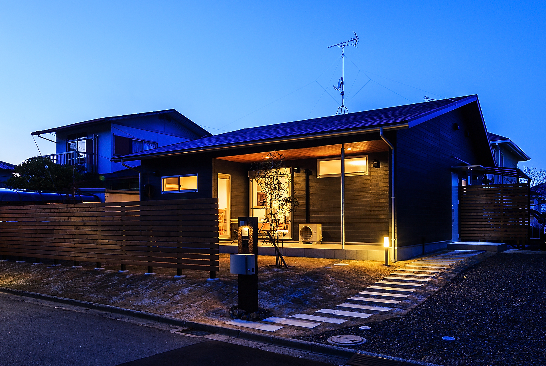 切妻屋根の平屋【奈良市】